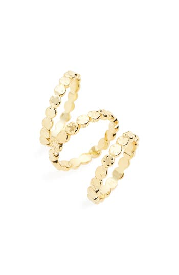 Women's Gorjana Chloe Set Of 3 Stackable Rings