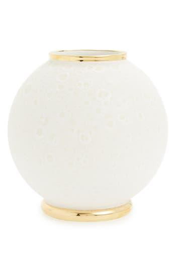 Aerin Marion Round Ceramic Vase, Size One Size - White