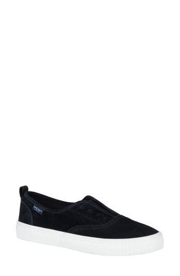 Sperry Crest Creeper Slip-On Sneaker, Black