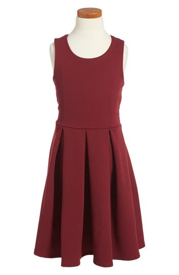 Girl's Soprano Skater Dress, Size S (8-10) - Red