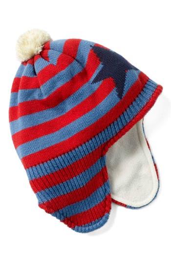 Toddler Boys Mini Boden Fleece Lined Hat  Red