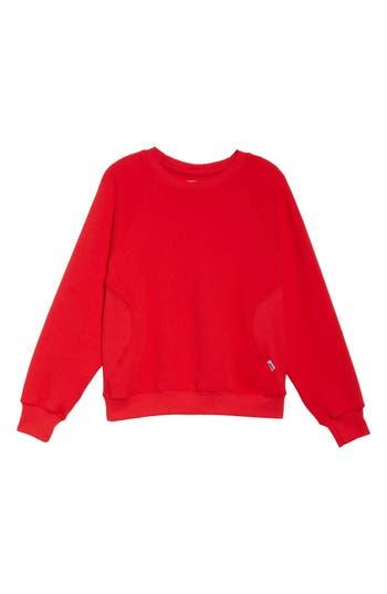 Good American Good Sweats The Not-So-Basic Crew Sweatshirt, Red