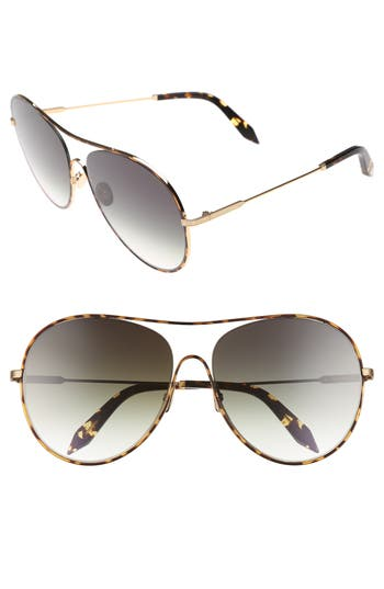 Victoria Beckham Loop 6m Oversize Round Sunglasses - Aurora