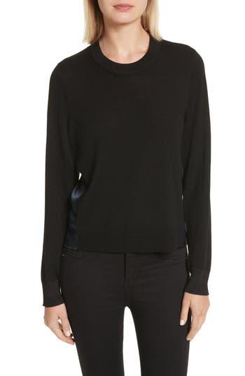 Rag & Bone Sadie Merino Wool Blend & Silk Sweater, Black