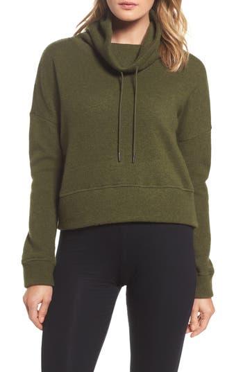 Ugg Funnel Neck Crop Merino Wool Sweatshirt, Green