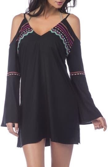 Women's La Blanca Spice Market Cover-Up Tunic, Size X-Small - Black