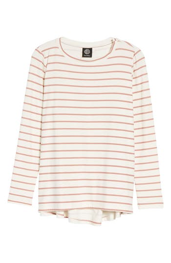 Women's Bobeau Butter High/low Top, Size Large - Ivory