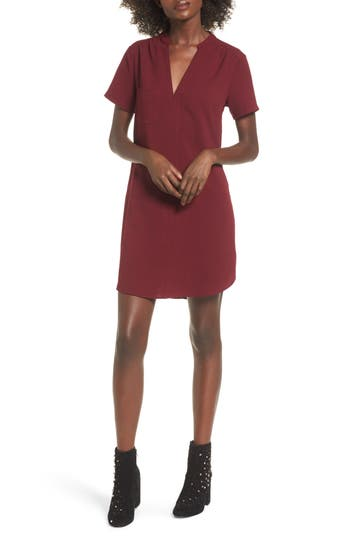 Hailey Crepe Dress, Red