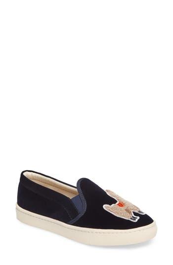 Soludos Velvet Sneaker- Blue