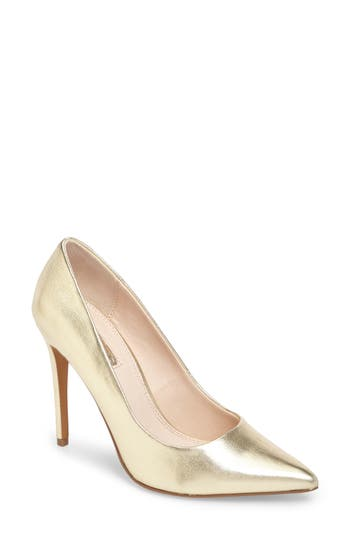 Topshop Grammer Pointy Toe Pump - Metallic