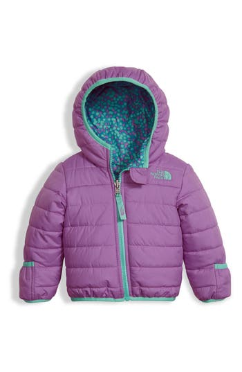 Infant Girls The North Face Perrito Reversible Water Repellent Hooded Jacket Size 1824M  Purple