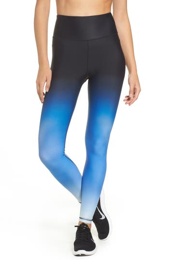 Hpe High Waist Compression Leggings, Blue