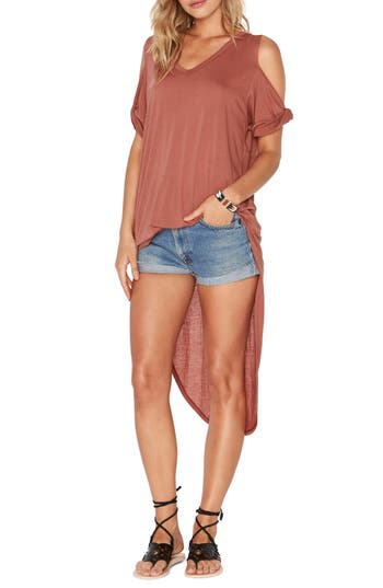 L Space Mays High/low Cover-Up Tee, Orange