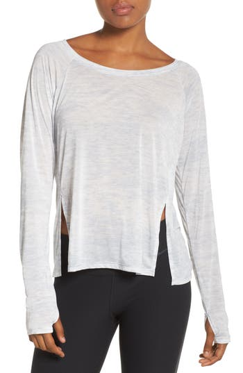 Nike Split High/low Hem Top, Grey