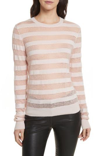 Women's Rebecca Minkoff Theo Stripe Sweater, Size XX-Small - Pink
