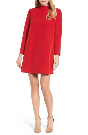 Halogen Bow Back Ponte Shift Dress, Red