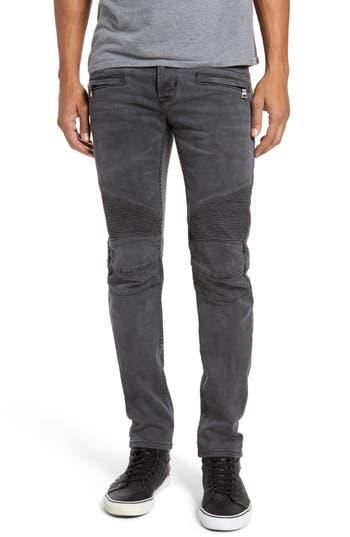 Hudson Jeans Blinder Biker Moto Skinny Fit Jeans, Black