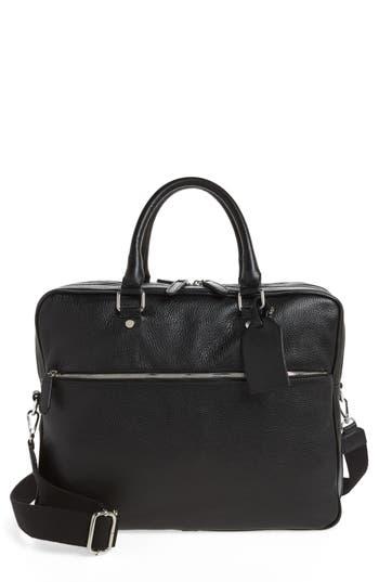 Eleventy Leather Laptop Bag - Black