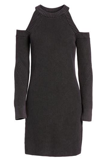 Rag & Bone/jean Dana Cold Shoulder Sweater Dress, Black