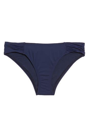 Tommy Bahama Side Shirred Hipster Bikini Bottoms, Blue