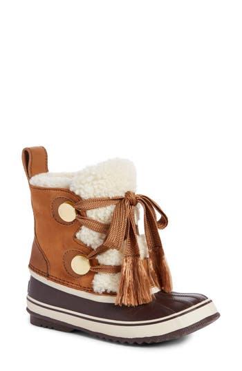 Sorel X Chloe Genuine Shearling Trim Waterproof Boot