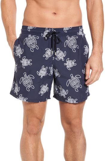 Vilebrequin Turtles Swim Trunks, Blue