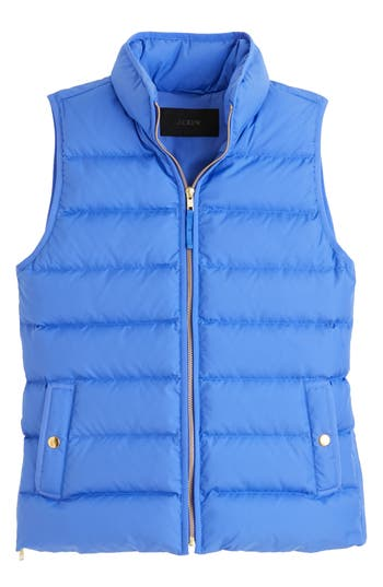 J.crew Anthem Down & Feather Fill Puffer Vest, Blue