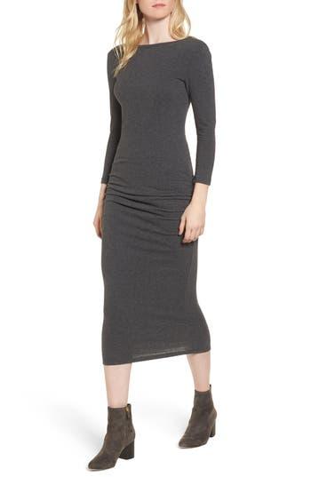 James Perse Scoop Back Knit Dress, Grey