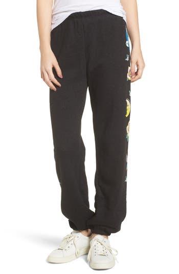 Women's Wildfox Flash Sweatpants, Size X-Small - Black