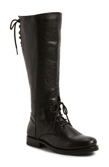 Frye Natalie Knee High Combat Boot- Black