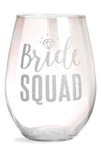 Slant Collections Bride Squad Stemless Wine Glass, Size One Size - White