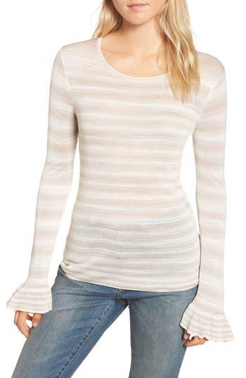 Women's Hinge Gradient Stripe Sweater, Size XX-Small - Beige