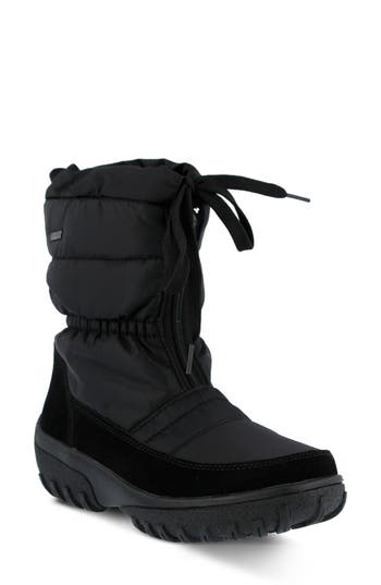 Spring Step Lucerne Waterproof Drawstring Boot - Black
