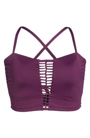 Plus Size Becca Etc. No Strings Attached Longline Swim Top, Purple