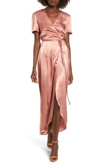 Wayf Gwyneth Wrap Maxi Dress, Pink