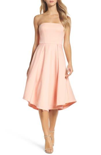 Cooper St Shuvee Strapless Fit & Flare Dress, Pink