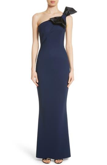 Chiara Boni La Petite Robe Jasmine One Shoulder Gown, Black