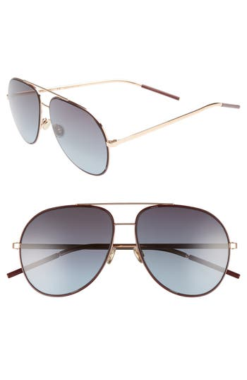 Dior Astrals 5m Aviator Sunglasses - Burgundy Gold