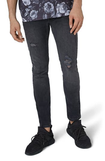 Topman Frankie Super Skinny Jeans, Grey