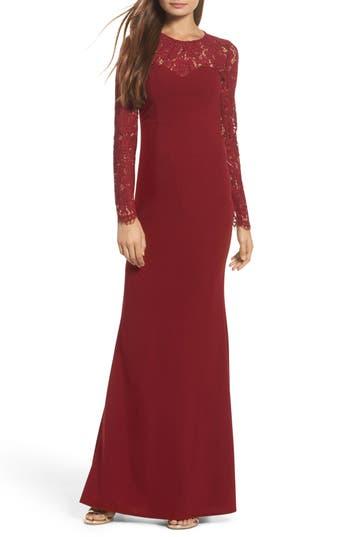 Lulus Whenever You Call Maxi Dress, Burgundy
