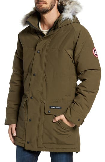 Canada Goose Emory Genuine Coyote Fur Trim Parka, Green