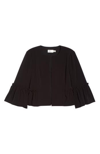 Eliza J Bell Sleeve Crop Jacket, Black