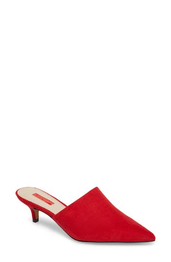 Topshop Juice Pointy Toe Mule - Red