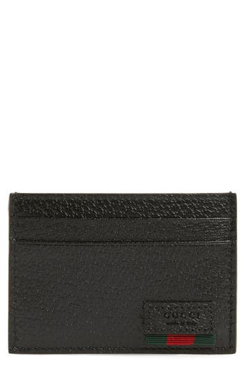 Gucci Logo Stamp Money Clip Card Case
