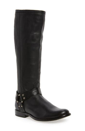 Frye Phillip Harness Tall Boot Regular Calf- Black