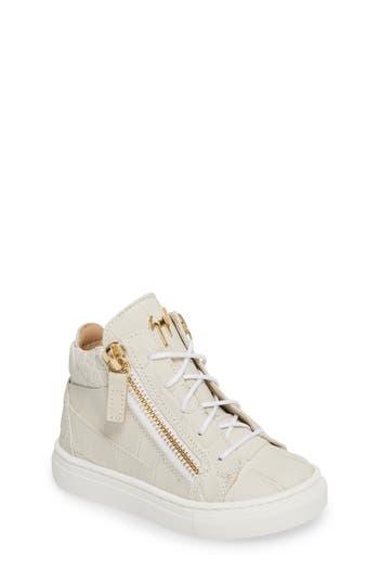 Girls Giuseppe Zanotti Natalie High Top Sneaker Size 1US  32EU  White