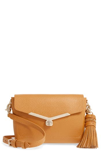 Botkier Vivi Leather Crossbody Bag - Metallic