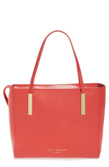 Ted Baker London Sarahh Leather Shopper - Red