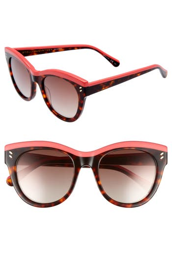 Stella Mccartney 51Mm Cat Eye Sunglasses - Pink/ Avana