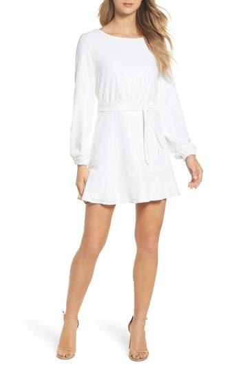 Jay By Jay Godfrey Aria Sequin Skater Dress, White